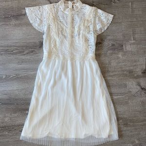 Anthropologie white dress